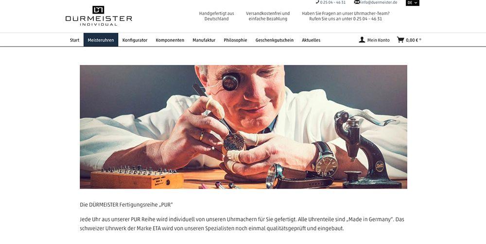 duermeister_onlineshop_startseite