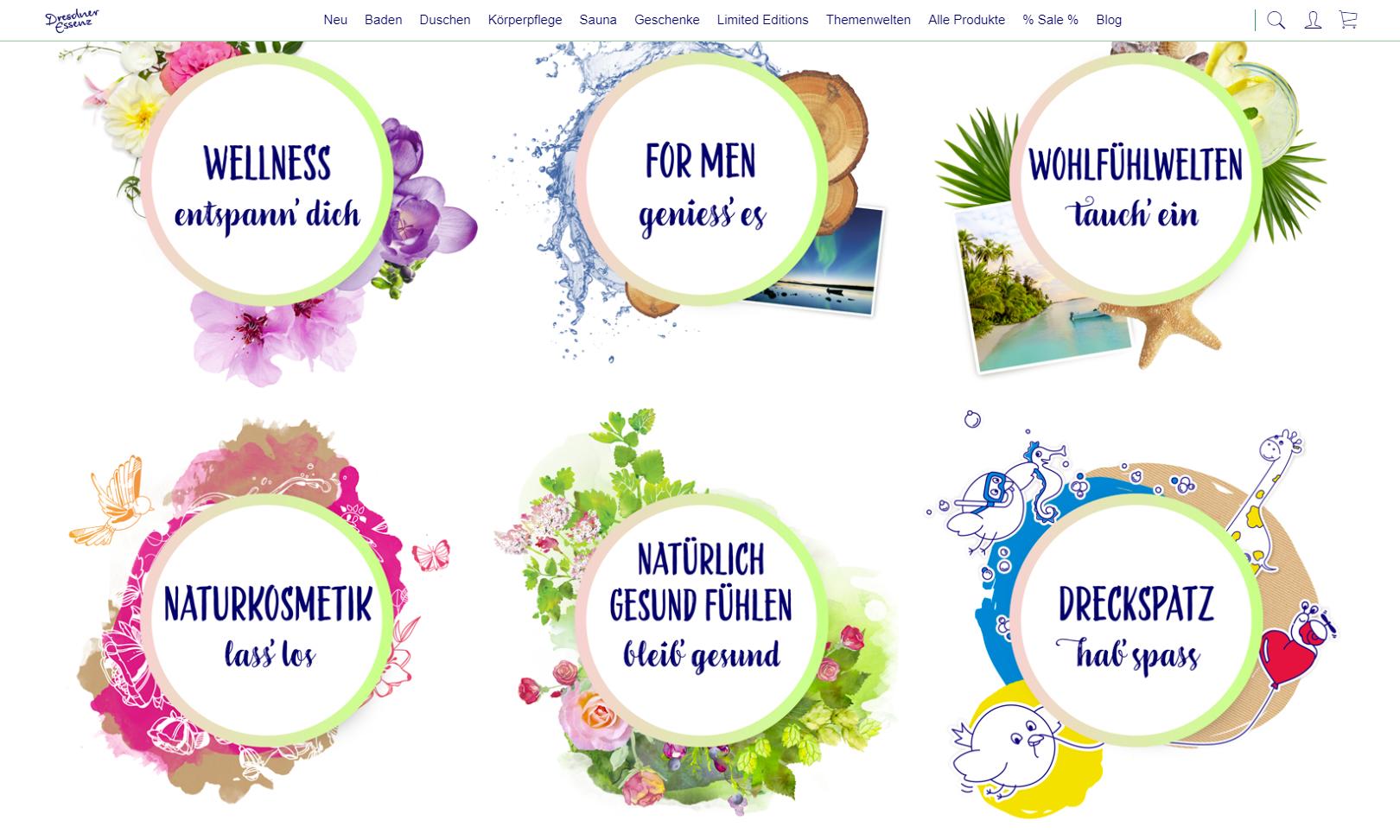 Onlineshop von Dresdner Essenz auf Basis von Shopware