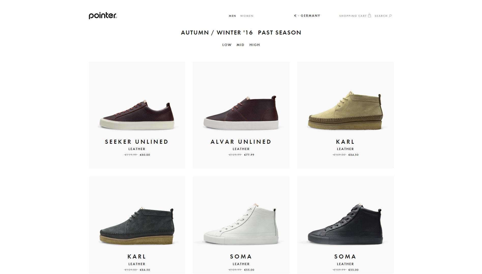 Pointer-Footwear