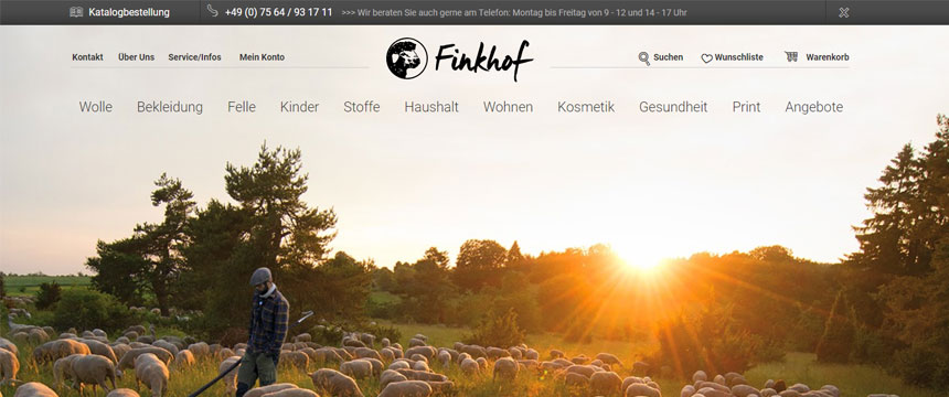 Shopware-Shop Finkhof gewinnt Shop Usability Award