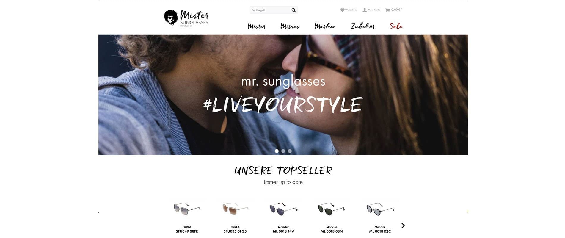 Shopware-Shop Mister Sunglasses