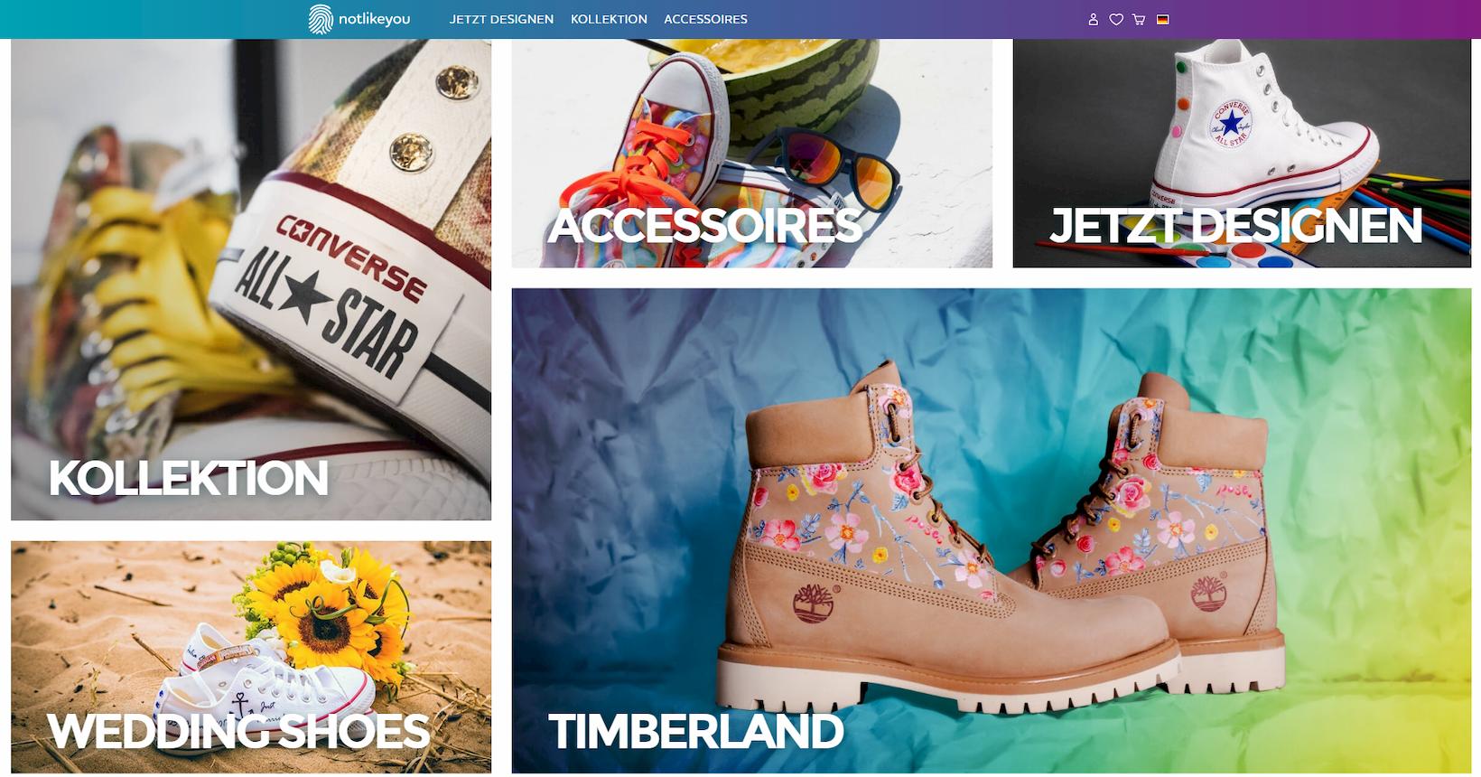 Onlineshop von notlikeyou auf Basis von Shopware