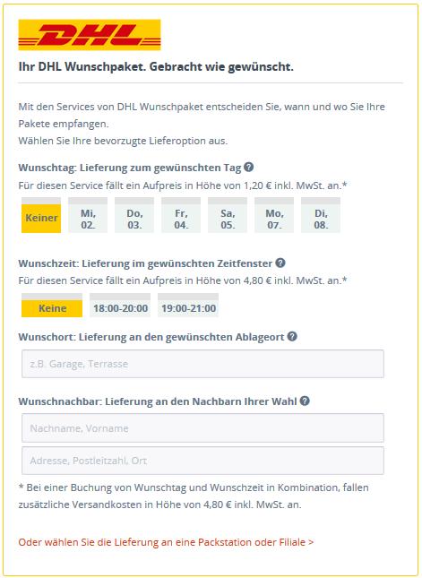 Mit dem Shopware-DHL-Plugin das Wunschlieferdatum auswählen